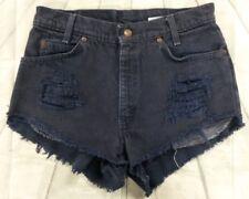 "Vintage Women's 27"" SZ 6 High Waist Distressed Levi's Shorts NICE! #S14"