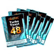 Alcotec 48 Hour TURBO YEAST Pure Super High Alcohol Spirit Vodka Cider - 10 PACK