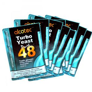 Alcotec 48 Hour TURBO YEAST Pure Super High Alcohol Spirit Vodka Cider - 10 PACK