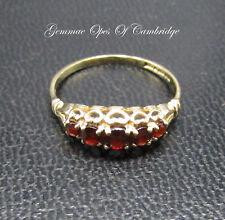 Dainty 9K Gold 9ct Gold Garnet Ring Size L 1.2g