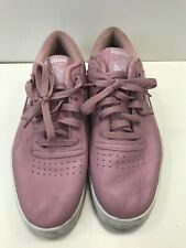 I695 WOMENS REEBOK PURPLE LEATHER TRAINER LACE UP WEDGE TRAINERS UK 8 EU 42
