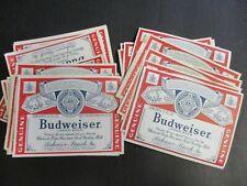 Lot (50) Vintage Budweiser King Of Beers Oregon Label Crafts Art 12oz Bottle