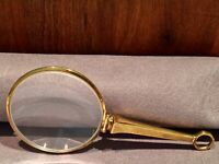 Lupe Double Gold Handlupen Leselupe Lorgnon Lorgnette Alt Antik Punze um 1920