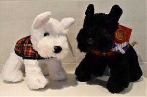KEEL SOFT TOY WESTIE Or SCOTTIE DOG WITH STEWART TARTAN COAT 25 cm SCOTTISH GIFT