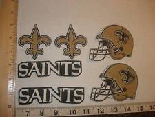 6 New Orleans Saints Fabric Applique Iron On Ons