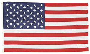 USS-1 Valley Forge 3'x5' Polycotton United States US USA AMERICAN FLAG Grommets