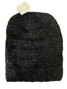 Charcoal Grey Beanie Hat Woolly Handmade Fair Trade Hippy Boho Festival