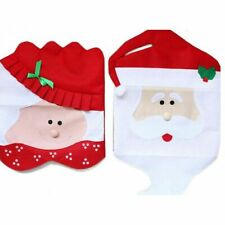 Mr&Mrs Santa Claus Christmas Dining Dinner Table Chair Back Cover