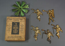 1910 German Adrian&Stock Angel Chime Candle Hot Air Christmas Nativity Tin Toy