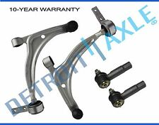 New 4pc Front Lower Control Arms + Ball Joints + Outer Tie Rods