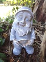"Latex gnome mold plaster cement casting mould  4""H x 2""W"