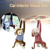 Tissue Box Holder Cartoon Monkey Napkin Dispenser Car Paper Hanging Napkin H2M8