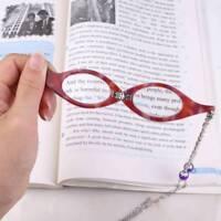 Vintage Folding Reading Glasses Shape Necklace Magnifier reader Necklace