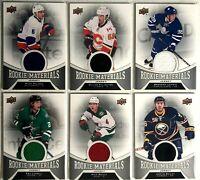 6 Card Jersey Lot 2016-17 Upper Deck Rookie Materials Toronto Islanders Flames