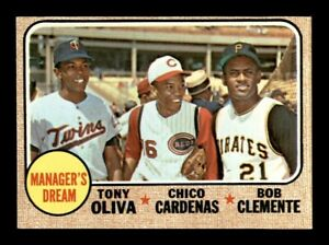 1968 Topps Set Break # 480 Managers Dream Clemente NM *OBGcards*