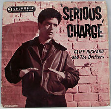 "CLIFF RICHARD & THE DRIFTERS - SERIOUS CHARGE 7"" Vinyl EP 45rpm VG"