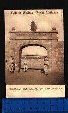COLONIA ERITREA (AFRICA ITALIANA) - ASMARA - ENTRATA AL FORTE BALDISSERA - 24300