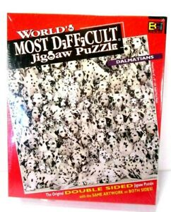 """Worlds Most Difficult Jigsaw Puzzle Dalmations Buffalo Games 15x15"""" 529 Pieces"""