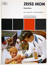 ZEISS IKON Prospekt CONTINA L & LK Zubehör Kamera Broschüre (X2429