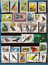 HONGRIE - RUSSIE  Les oiseaux : Rapaces,palmipèdes,divers 222T4