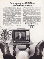 1970 CBS Anchor Roger Mudd photo Standard Oil Esso promo print ad