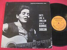 ORIG DG RVG FOLK LP - BONNIE DOBSON - SHE'S LIKE A SWALLOW - PRESTIGE 13021