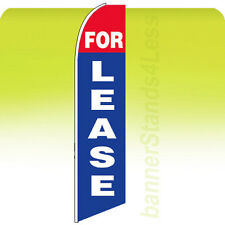 For Lease Swooper Flag Feather Flutter Banner Sign 11.5' Tall - bb