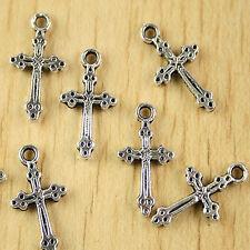 30pcs Tibetan silver cross charms H2775