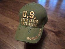 U.S BORDER PATROL HAT EMBROIDERED BALL CAP OD GREEN ADJUSTABLE