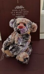 """Charlie Bears RAGSY WITH TAGS,RAINBOW COLOUR,SECRET COLLECTION,SOLD OUT,2010,12"""""""