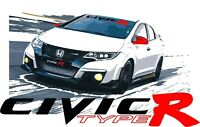Honda Civic Type R windshield banner decal.