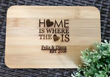 House Warming Gifts - Personalized Engraved Mini Bamboo Serving / Chopping Board