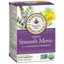 Traditional Medicinals Organic Herbal Laxative Tea Bags, Smooth Move 16 ea (2pk)