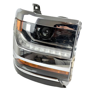 2016-2018 OEM Chevrolet Silverado Xenon HID LED Chrome Headlight Right 84030275