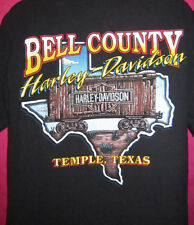 Harley Davidson small t shirt Black railroad boxcar 1999 Texas