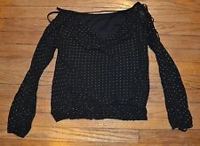 HeartSoul HS Size Small Black Top with XXX Revealing Long Sleeves