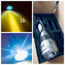 HID Xenon led Torch Flashlight Outdoor 8000 Lumens streetlight match snap on