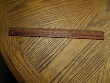 "Vintage White Mountain Refrigerators 12"" Advertising Wood Ruler   Maine Mfg. Co."