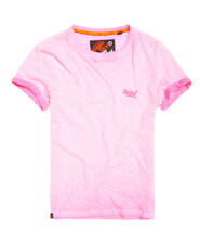 Superdry Orange Label Low Roller Plain T Shirt Medium Deep Pop Pink Ps4