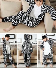 Kids Kigurumi Unisex Cosplay Animal Costume Sleepwear Pajamas onesiE2-Zebar Hot