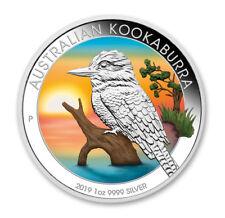 1 OZ Silber Kookaburra 2019 mit Farbapplikation color