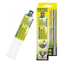 Metallkleber Flüssigmetall Epoxidharz Doppelspritze 2K Metallspachtel Petec 25ml