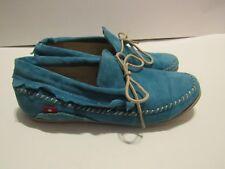 Women 9 Oliberte Aduni Moccasin Loafers Blue Suede Shoe Slip On Comfort