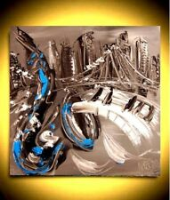 JAZZ CITY MUSIC ART  Large Abstract Modern Original Oil Painting b34545y