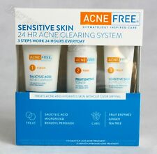 AcneFree Sensitive Skin 24 Hour Acne Clearing System Kit Dermatoloty Inspired