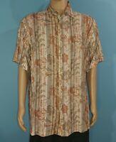 J Ferrar Striped Floral Flower Shirt Size XLT XLarge Tall (A4)