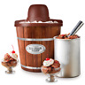 Electric Ice Cream Maker Machine Wood Bucket Home Frozen Yogurt Sorbet Gelato