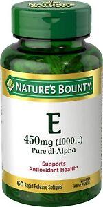 Vitamin E by Nature's Bounty, Supports Immune Health & Antioxidant Health,...