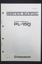 PIONEER pl-15d Original Service-Manual/Istruzioni/Schema Elettrico!