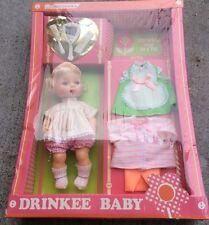 vintage horsman dolls  rare drinkee baby w/ complete layette Drinks & Wets& Wets
